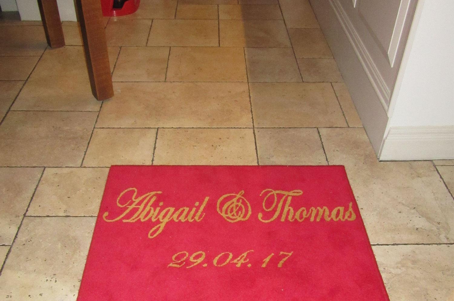 Custom made red carpet for Wedding